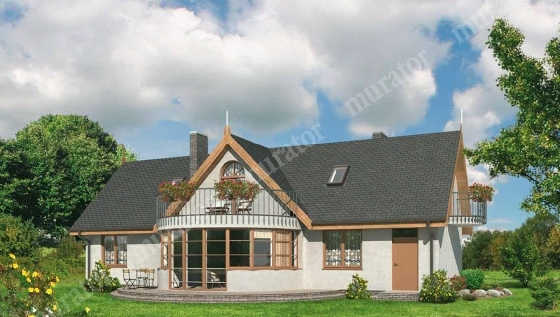 Проект великолепного дома с большим эркером