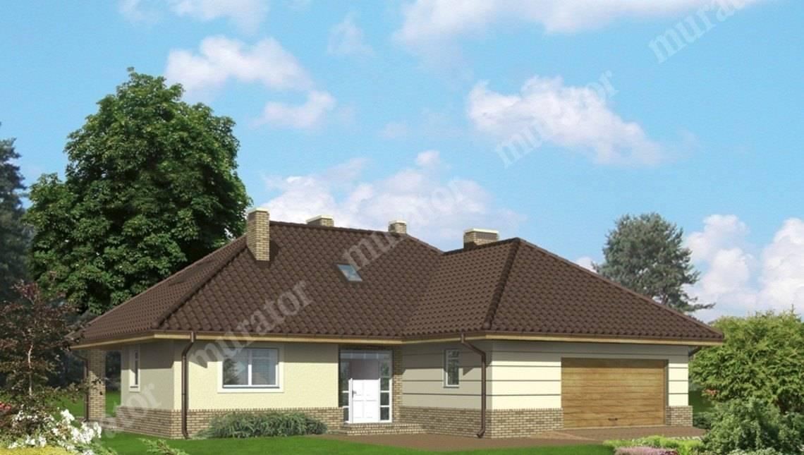 Интересный жилой дом с мансардой