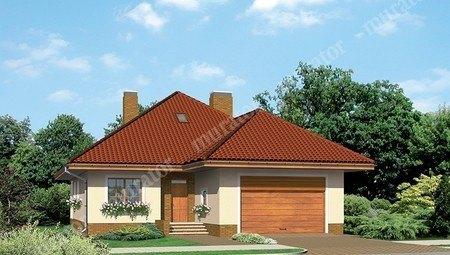 Красивый жилой дом с двумя верандами