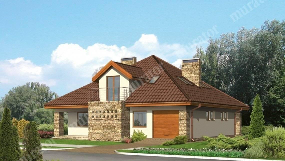 Проект жилого дома напоминающего замок на два этажа