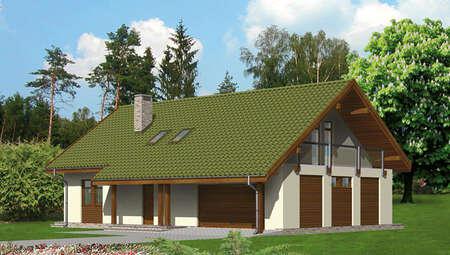 Двухэтажный дом площадью 150 м2