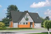 Яркий двухэтажный дом