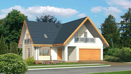 Привлекательный загородный дом с гаражом на 2 авто