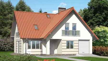 Проект красочного двухэтажного дома