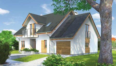 Роскошный двухэтажный дом