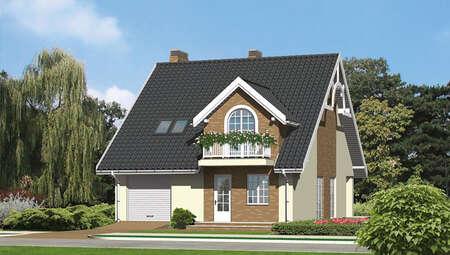Красивое жилье с высокой крышей