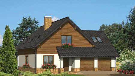 Симпатичный дом в коричневых тонах
