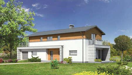 Проект интересного дома для узкого участка