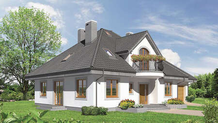 Великолепный особняк с полукруглыми балконами