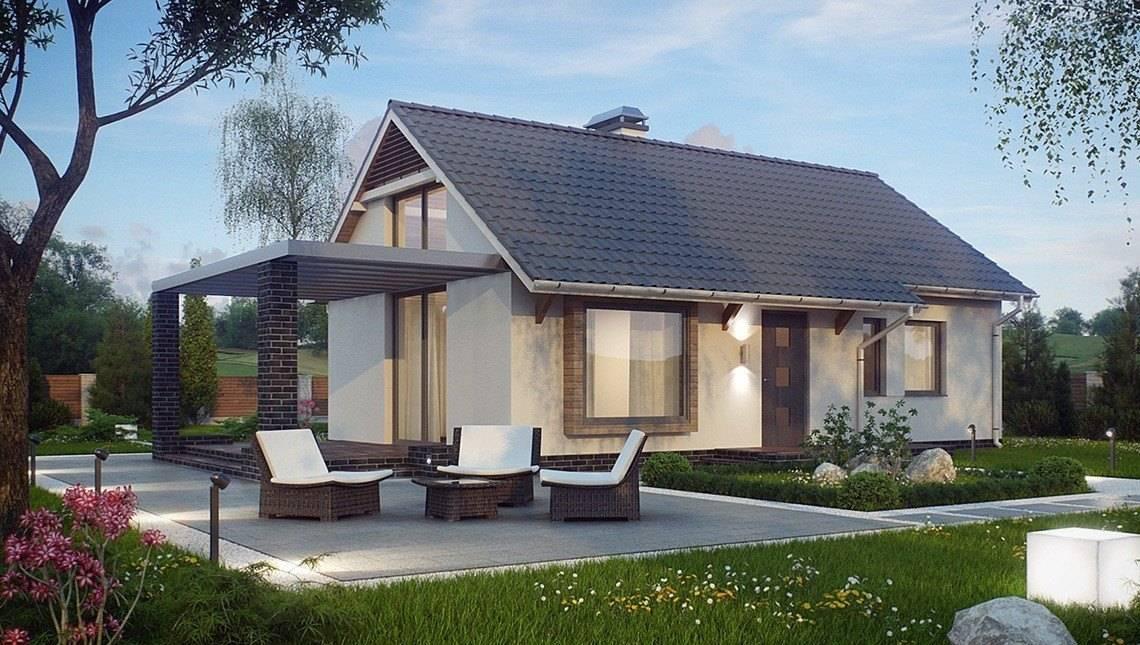 Удачный проект маленького одноэтажного дома