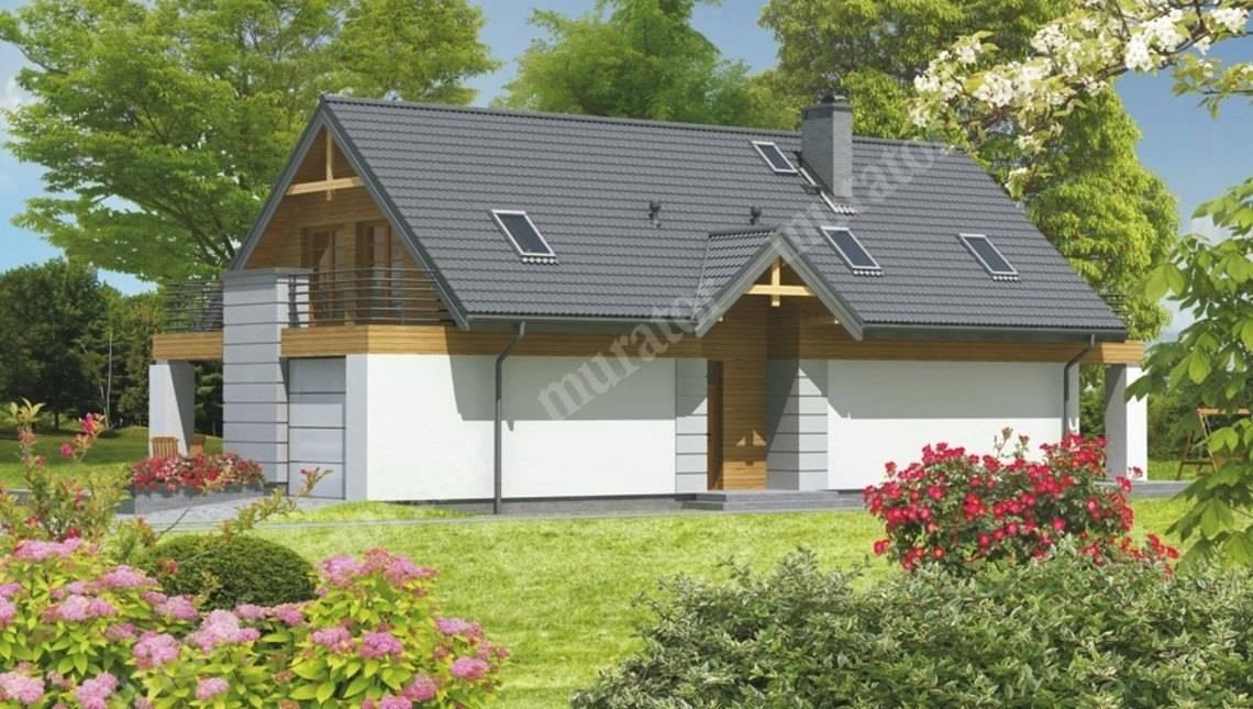 Проект двухэтажного особняка с большой террасой