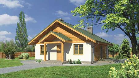 Проект жилого дома квадратной формы