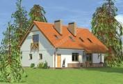 Симпатичный дом с большой мансардой