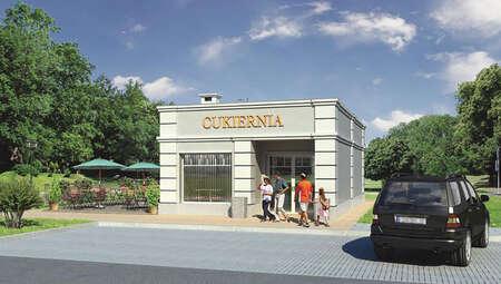 Проект отдельно стоящего магазина площадью 50 м2