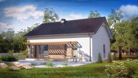 Проект одноэтажного домика с маленьким чердаком