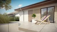 Проект аккуратного одноэтажного дома с террасой