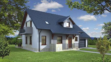 Двухэтажный жилой дом в благородной расцветке