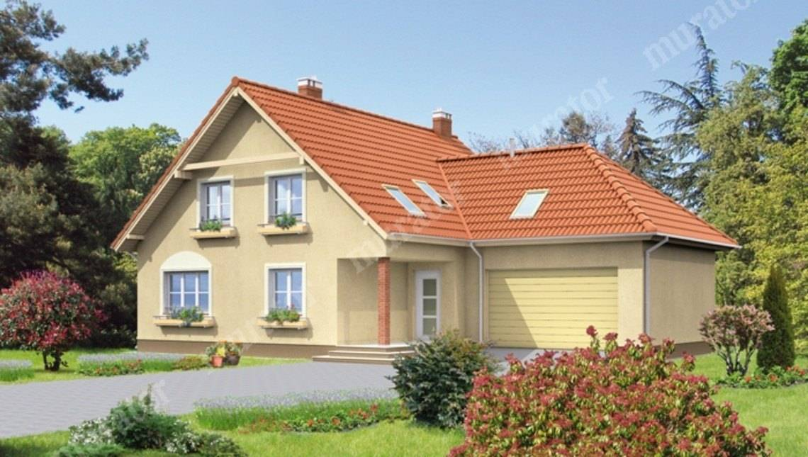 Двухэтажный дом площадью 210 м2