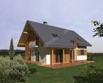 Красивый дом с деревянным декором