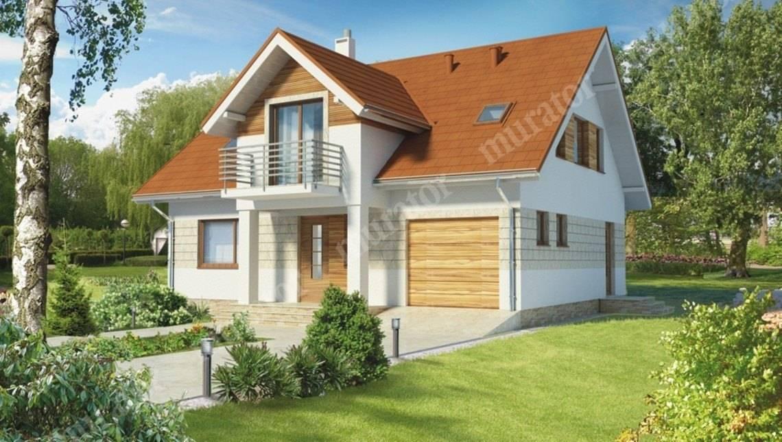 Проект привлекательного жилого дома с большой гостиной