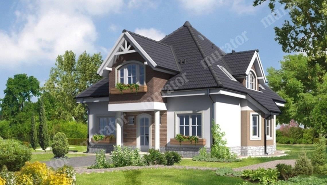 Проект видного двухэтажного жилого  дома