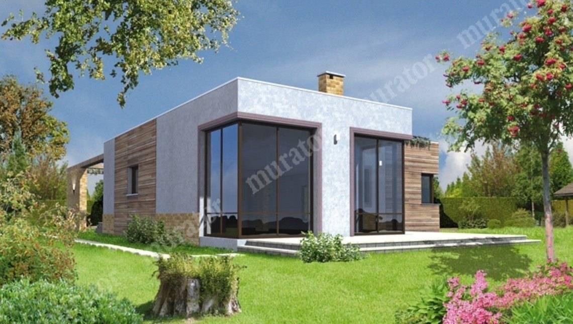 Одноэтажный дом из кубических форм