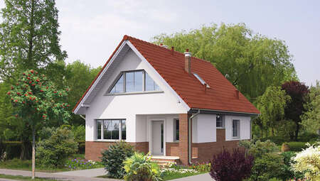 Интересный двухэтажный дом на 4 спальни