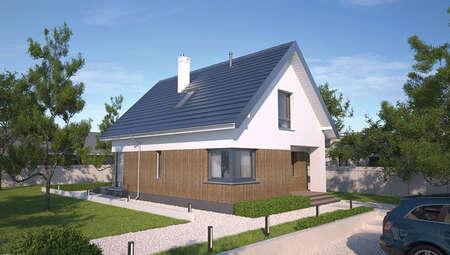 Компактный двухэтажный жилой дом