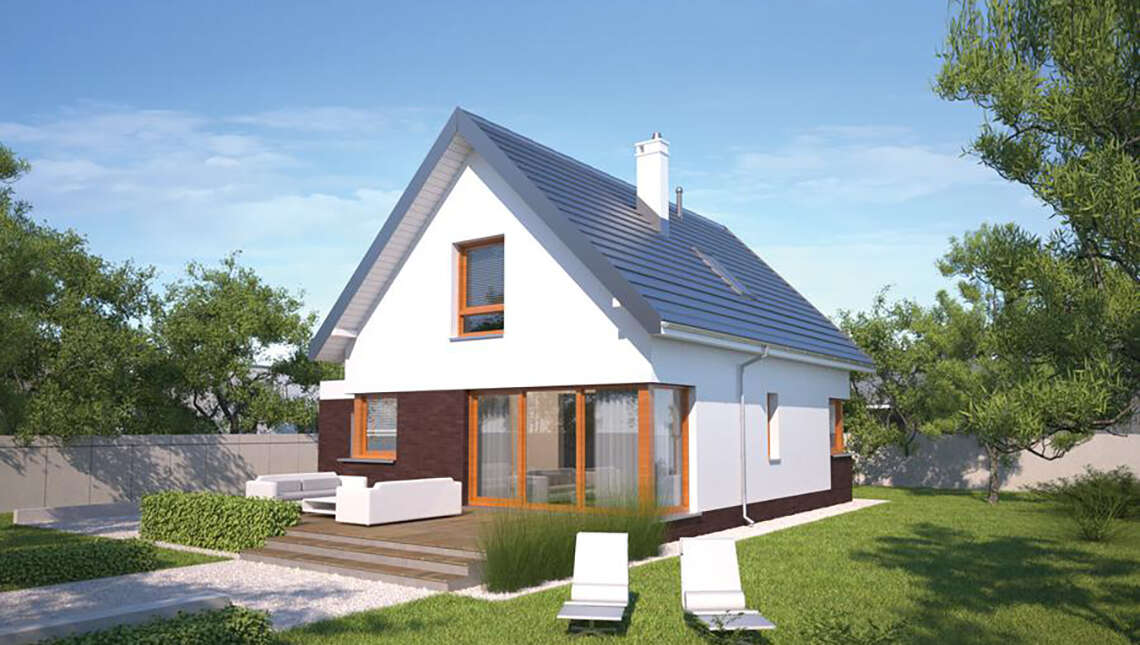 Проект уютного жилого дома на 4 спальни