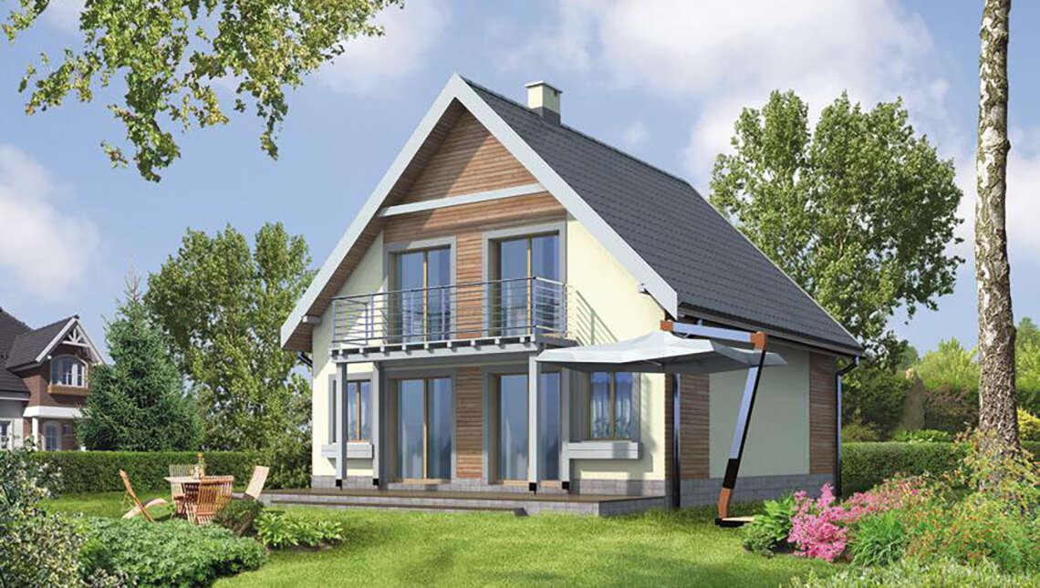 Проект восхитительного двухэтажного дома на 3 спальни