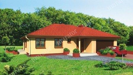 Яркий одноэтажный дом