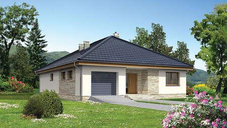 Жилой дом с кирпичным орнаментом