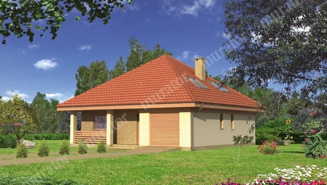 Проект красивого двухэтажного дома под острой крышей