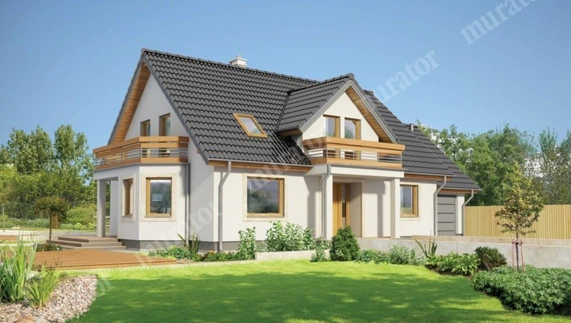 Стильный жилой дом с двумя балконами