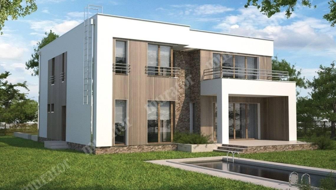 Жилой дом в стиле минимализма на 2 этажа