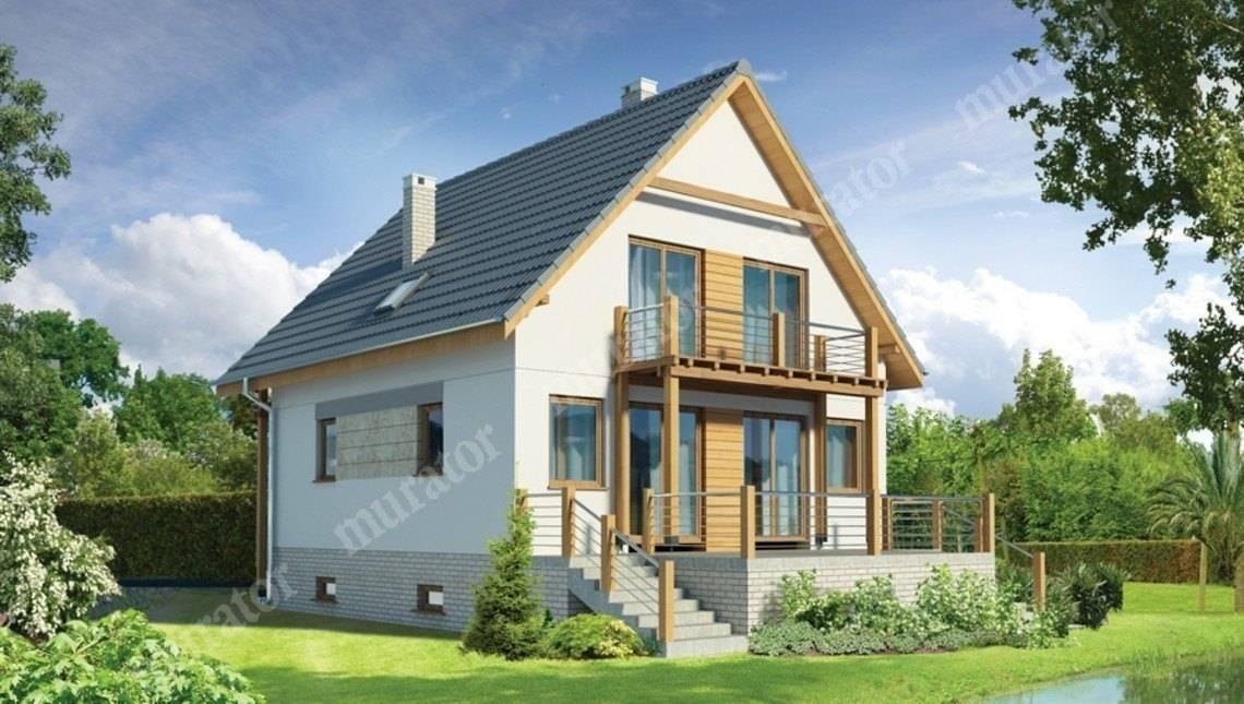 Светлый двухэтажный дом с цокольным этажом
