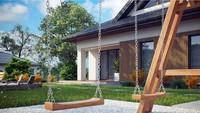Проект классического одноэтажного коттеджа площадью 110 кв.м.