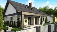 Проект загородного жилого дома с мансардой площадью 184 кв.м.