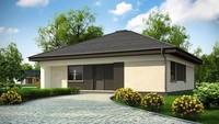 Проект небольшого  функционального коттеджа площадью 109 кв.м.