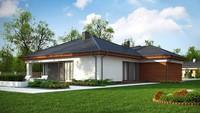 Проект одноэтажного загородного дома с гаражом для 2 авто площадью 183 кв.м.