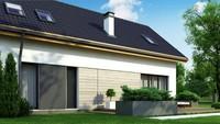 План-схема мансардного дома площадью 174 кв.м.