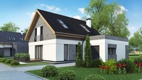 План строительства мансардного дома площадью 176 кв.м.