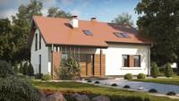 Проект дома с мансардным этажом и гостевыми комнатами