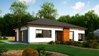 Проект классического одноэтажного дома с гаражом площадью 151 кв.м