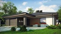 Чертеж красивого дома на 167 кв. м со встроенным гаражом