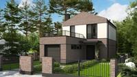 Проект частного дома с гаражом 20 кв.м