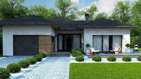 План строительства представительного коттеджа площадью 142 кв.м и гаражом для 1 авто