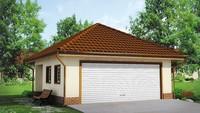 Планировка удобного гаража площадью 39 кв.м. на 2 авто