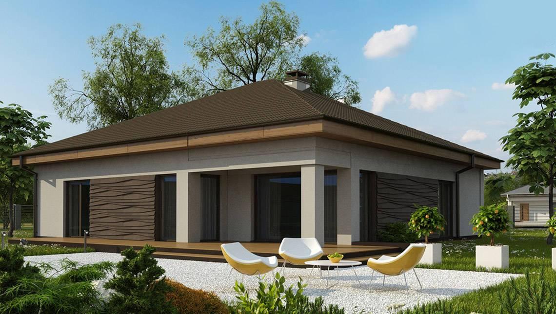 Проект одноэтажного дома с гаражом для 2-х машин