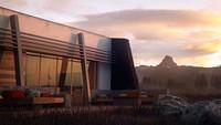 Проект необычного одноэтажного коттеджа с плоской крышей общей площадью 130 кв.м.